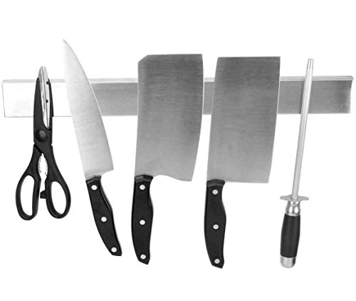 Ouddy 15 Inch Magnetic Knife Holder - Stainless Steel Magnetic Knife Bar - Magnetic Knife Strip