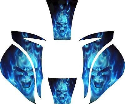 MILLER-ELITE-WELDING-HELMET-WRAP-DECAL-STICKER-SKINS-MP10-2-Blue-Skull-Flame