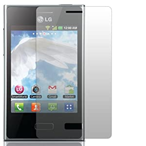 "2 x Slabo Displayschutzfolie LG Optimus L3 E400 Displayschutz Schutzfolie Folie ""Crystal Clear"" unsichtbar MADE IN GERMANY"
