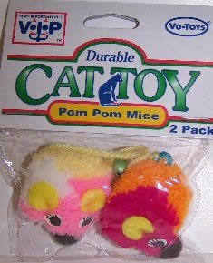 Vo-Toys Pom Pom Mice 2 pack Cat Toy