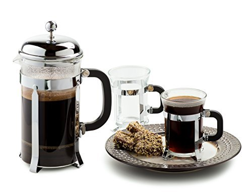 Chef's Star Premium 34oz French Coffee Press 2 Cups Set - french press coffee maker w/ Stainless Steel Plunger & Heat Resistant Glass (Premium French Press compare prices)