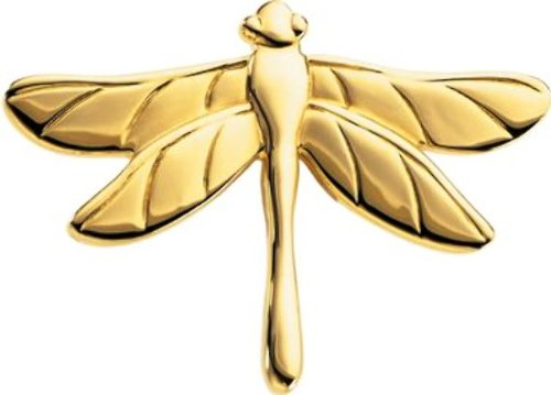 The Dragonfly Brooch in 14k Yellow Gold