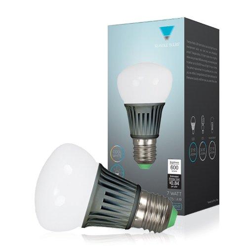 Triangle Bulbs T99001 - 7-Watt (50-Watt) A19, Led Light Bulb, High Performance, 600 Lumens, Cool White, Daylight White, Light Bulb, 6000K, 60W, Incandescent Bulb Replacement,