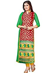 Mahiyar Charming Red And Yellow Embroidered Salwar Kameez
