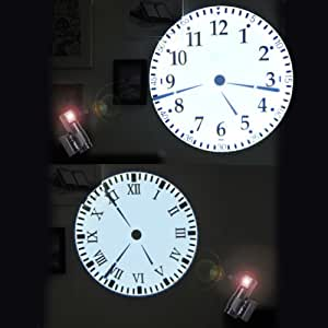 Buy jcc roman number 4 color led digital wall desk for Led digital wall clock in india