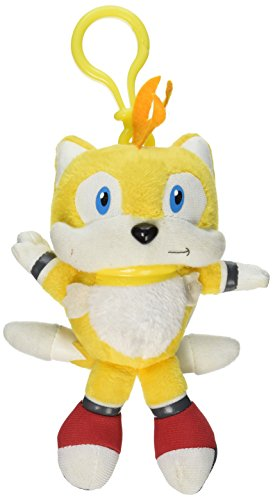 "Underground Toys Sonic The Hedgehog Tails Talking 4"" Plush Key Chain"
