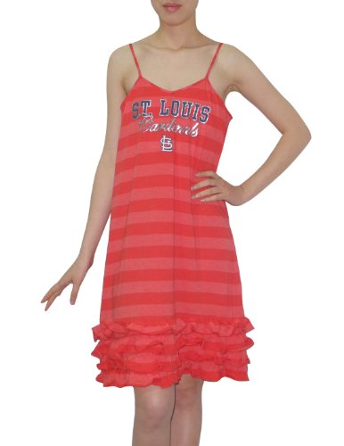 MLB St. Louis Cardinals Womens Sleepwear Dress / Nightgown L Red at Amazon.com