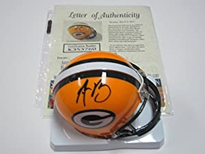 Aaron Rodgers Green Bay Packers Signed Autographed Mini Helmet Authentic Certified Coa