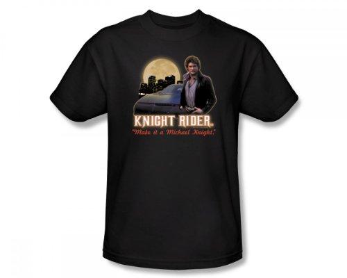 Knight Rider-Full Moon-Maglietta aderente, Adulto, colore: nero nero Small