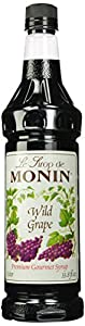 Monin Flavored Syrup, Wild Grape, 33.8-Ounce Plastic Bottles (Pack of 4)