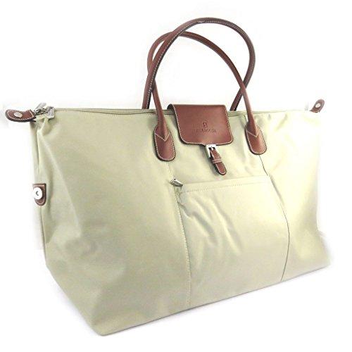 Travel bag 'Hexagona'beige (60x35x20 cm).