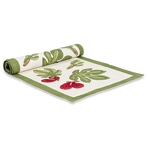 Couleur Nature Table Runner, 16 By 72-Inch, Fig Red