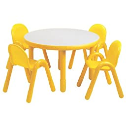 36 in. Dia. Kids Table (18 in. Height in Shamrock Green)