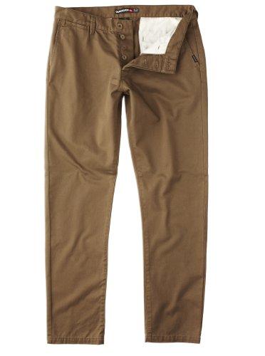 Quiksilver The Krest-KPMPT082 Straight Men's Trousers Caramel W38 IN x L32 IN