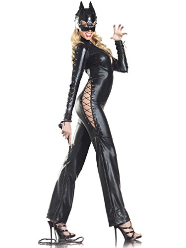 Adult Catwoman Costume With Catwoman Mask Sexy Catwoman Costume Black  Catsuit 07b3a56ac874