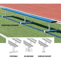 15' Portable Bench w/o Back (colored) (EA) from BSN Sports