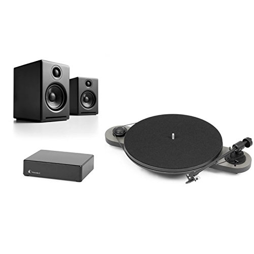 Pro-Ject Elemental Turntable Bundle with Phono Box and Audioengine A2+ Speakers (Silver/Black) (Turntable Elemental compare prices)