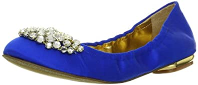 Nine West Women's Faycie Ballet Flat,Blue Satin,6 M US