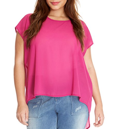 Marolaya Women's Loose Back Split Tops Plus Size Chiffon Blouse Shirt (Plus Size Split Top compare prices)