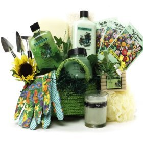Gardener's Relief Spa Set Bath and Body Gift Basket - A Great Gift For Her!