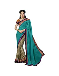 Indian Majestic Multi Colored Border Worked Chiffon Jacquard Saree By Triveni