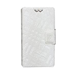 Jo Jo Cover Krish Series Leather Pouch Flip Case With Silicon Holder For HTC One ST White