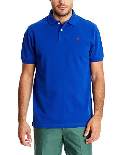 Hackett London Polo Tailored Logo Azul Tinta