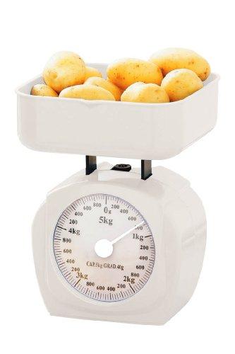 Premier Housewares 0807216 Balance de Cuisine Plastique Blanc 5 kg