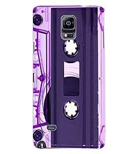ColourCraft Retro Audio Cassette Design Back Case Cover for SAMSUNG GALAXY NOTE 4