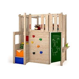 indoor spielturm hochbett spielbett kleiderschrank podest. Black Bedroom Furniture Sets. Home Design Ideas