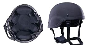Rap4 Paintball Mich Style Military Training Helmet - Black