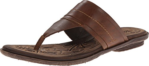 Brown Leather Flip Flops For Women front-692168
