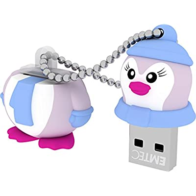 EMTEC Animalitos 8 GB USB 2.0 Flash Drive, Baby Penguin