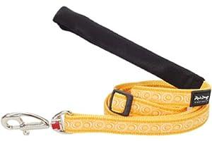 Red Dingo Designer Dog Lead, Medium, Cosmos Yellow