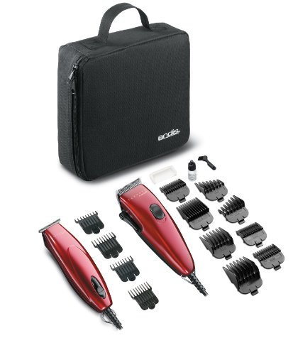 Andis 23975 Pivot Motor Clipper and Trimmer Combo, Red