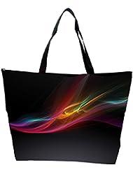 Snoogg Black Background Design Designer Waterproof Bag Made Of High Strength Nylon