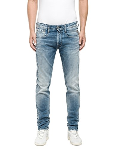 Replay Anbass-Pantaloni Uomo,    Blu (Blue Denim 10) W33/L32 (33)