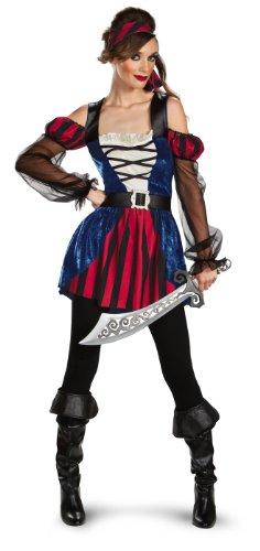 [Disguise Women's Disgise Buccaneer Beauty Costume, Black/Red/White, X-Large] (Buccaneer Beauty Costume)
