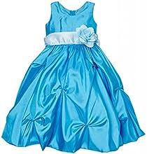 Classykidzshop Turquoise Flower Dress -Little Girls39
