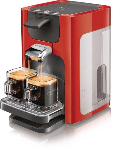 Philips Senseo HD786382 Kaffeepadmaschine, 1.450W, 2Tassen, Rot