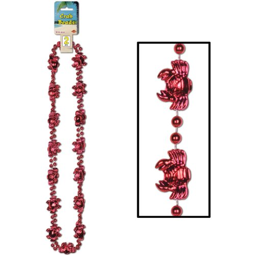 Beistle Company Unisex Adult Plastic Crab Beads Black Medium