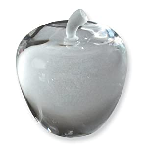 Clear Crystal Apple Paperweight