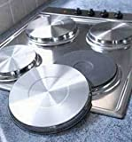 Set of 4 Stainless Steel Hob Covers (977) Hob Protector Covers