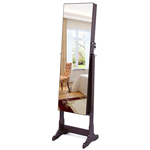 SONGMICS-Lockable-Jewelry-Cabinet-Standing-Jewelry-Armoire-with-LED-Light-Full-Length-Cheval-Mirror