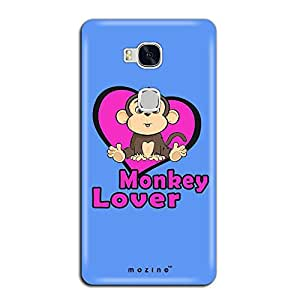 Mozine Monkey Lover Printed Mobile Back Cover For Huawei Honor 5x