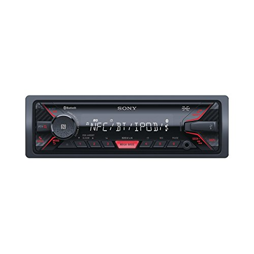 Sony-DSX-A400BT-Mechaless-Autoradio-Bluetooth-NFC-USBAUX-Anschluss-Apple-iPodiPhone-Control-Freisprechfunktion-und-integriertes-Mikrofon-schwarz