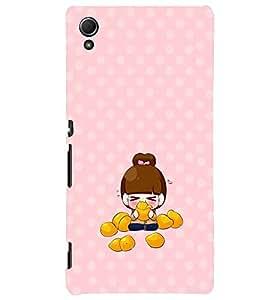 PRINTVISA Cute Girl Case Cover for Sony Xperia Z3 Plus