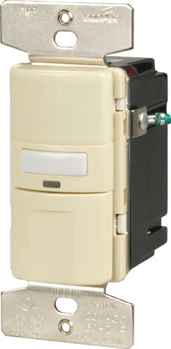 Cooper Wiring Devices Vs310U-A-K Motion-Activated Vacancy Sensor Wall Switch, Almond