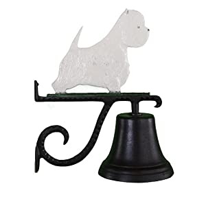 Montague Metal Products Cast Bell with Color West Highland White Terrier