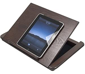 "Studio Tablet Easel (Walnut) (2.75""H x 18""W x 13.25""D)"